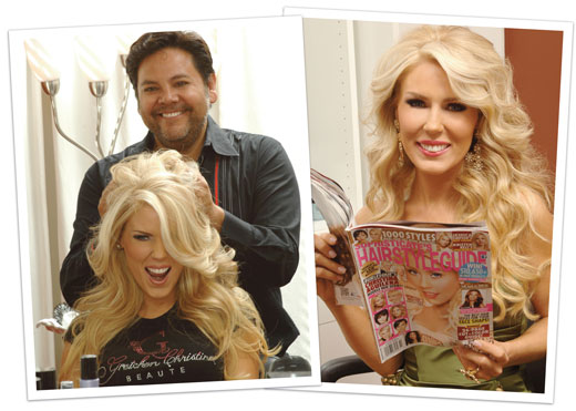 Victor Paul Styling Gretchen Rossi at the Sophisticate Magazine Photo Shoot